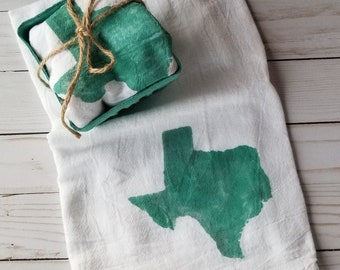 Texas ~ Flour Sack ~Kitchen Towel ~ Tea Towel