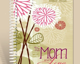 Personalized  / Prayer Journal / LIned Notebook / To Mom with Love/