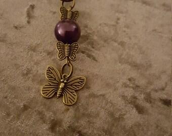 Butterfly key charm
