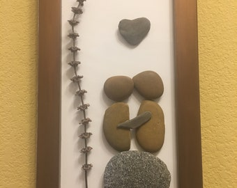 Falling in Love - Art Stone Frame