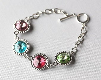 Mother's Day Bracelet, Grandmother Jewelry, Gift for Grandma, Personalized Birthstone Bracelet, Mothers Jewelry
