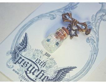Cute Tiny Bottle Brooch . CUSTOM Glitter COLOR. Glass Vial brooch. glass Bottle Pendant. Bottle Pin. Inspirational Gift for women