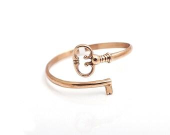 Bronze bracelet, Key Bracelet, Skeleton key bracelet, key bangle,