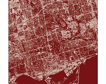Toronto Cityscape / Ontario Canada Wall Art Poster / Graphic City Map Art Print / 8x10 Digital Print / Choose your color