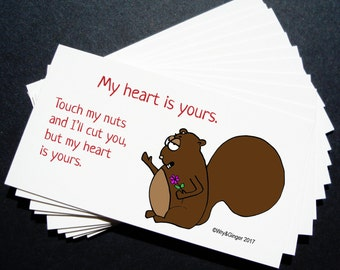 Printable Funny Valentines - Love and squirrels and tequila and chocolate