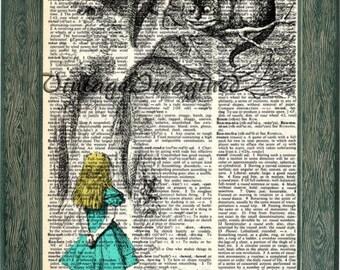 Alice in Wonderland art, alice in wonderlad print, disney print, alice in wonderland decor, disney decor, disney art, girls decor, alice art