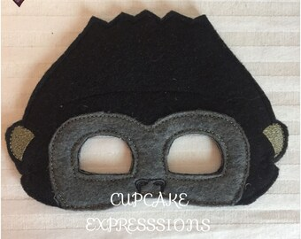 Dress Up Play Mask - Gorilla - Kids Costume, Pretend Play, Imaginative Play, Cosplay