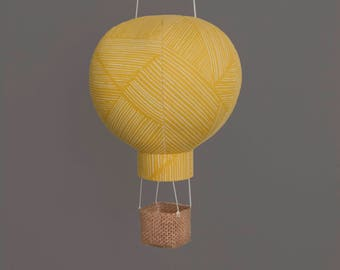 Hot Air Balloon in Sun - Travel Mobile Decorations for Baby Shower, Gender Neutral Nursery