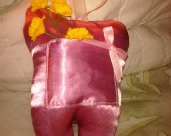 Girl's Handmade Tooth Fairy Pillow  Pink Girlie Shiny Feminine Keepsake