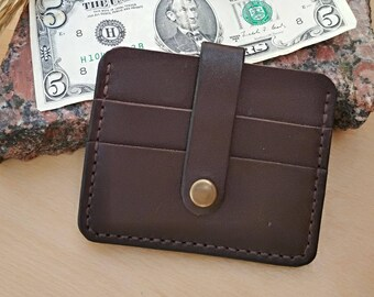 Leather card holder Gift for Men Business card holder Husband gift  Card case Card holder leather Minimalist Wallet Slim Wallet