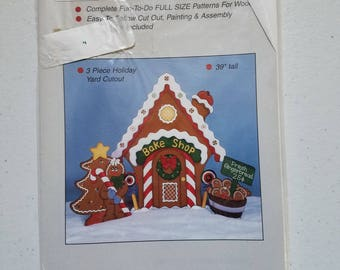 Gingerbread House Pattern for Wood