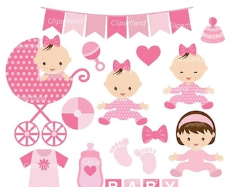ON SALE INSTANT Download. Baby girl clip art. Cbg_3. Personal and commercial use.