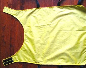 Dog Rain Coat in Yellow.  Seattle Dog Rain Coat.  Large Dog Rain Coat.