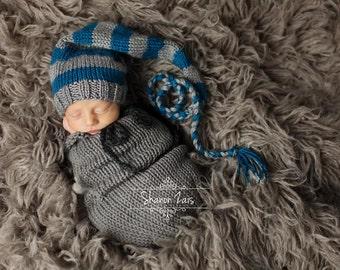 Gray Swaddle Sack Newborn Baby Photography Prop Wrap