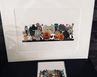 Childrens DrawMe Designs Group A3 Mounted print picture