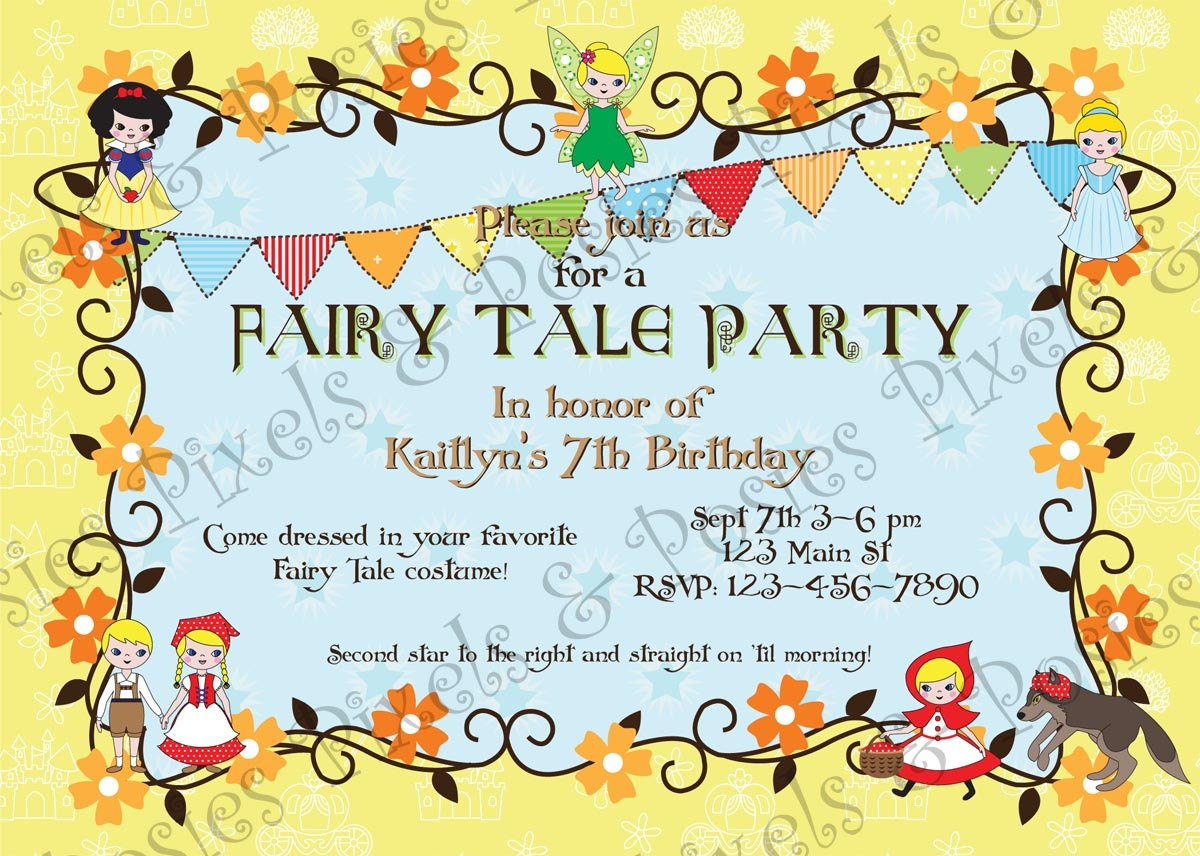 Famous Fairytale Birthday Invitations Model - Invitations Example ...