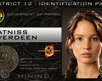 Hunger Games Prop Badges - Real Badges Complete with Clip