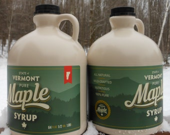 2018 Vermont Maple Syrup - Gallon shipped as 2 halves