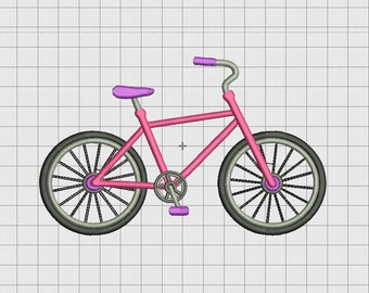 Bicycle Bike Embroidery Design in 3x3 4x4 and 5x7 Sizes