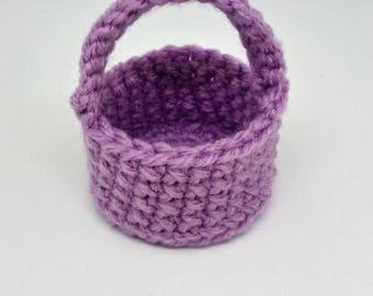 Easter Basket, Party favors, Mini Easter Basket, Easter Girl, Easter Decorations, Easter gifts, Easter party favors, crochet