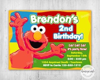 Elmo Birthday Invitation - Printable Digital File