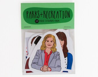 Parks & Recreation - 15 piece sticker set - Parks and Rec - Parks and Recreation stickers - Ron Swanson - Treat yo self - Leslie Knope