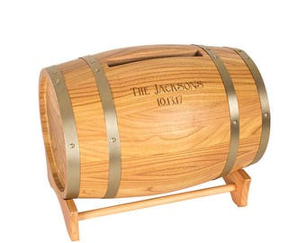 Wine Barrel Wedding Reception Card Holder Mail Box Personalized Wedding Decorations