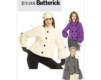 Sz 6/8/10/12 - Butterick Jacket Pattern B5088 - Misses' Jacket  in 3 Variations