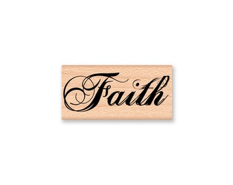 FAITH-wood mounted Rubber Stamp (mcrs 28-37)