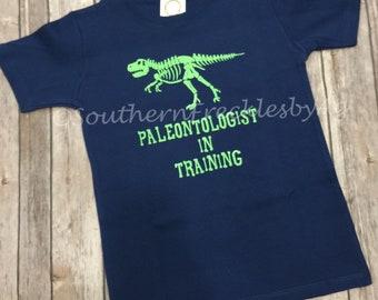 Paleontologist In Training Boy Toddler T Shirt T Rex Vinyl Dinosaur