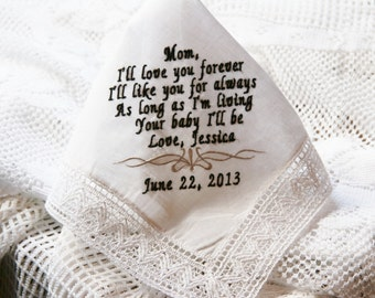 I'll Love You Forever- I'll Like You For Always- Gift to Mom From Bride or Groom