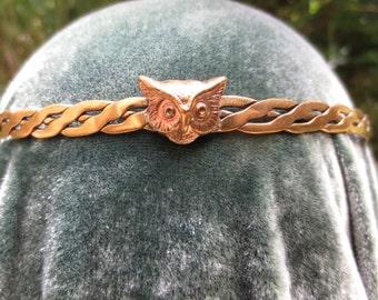 Brass Wise Owl Circlet Headpiece