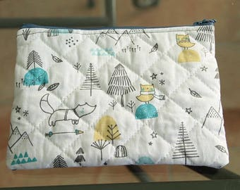 Pouch for carrying baby fleece fabric products
