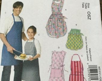 NEW UNCUT! pattern for 4 different aprons! EZ!!!
