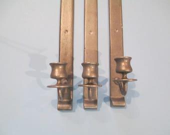 VINTAGE METAL CANDLEHOLDERS, Metal Wall Candleholders, Federal Style Wall Candleholders