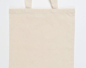 50 pieces basic natural cotton bag fabric bag carrying Case 38 x 42 cm short handles, ideal for Bedrcuken