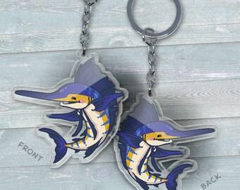 Sailfish - Acrylic Phone Charm / Keychain / Necklace