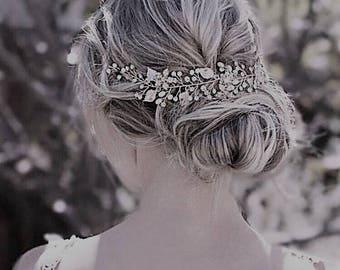 Crystal Headpiece, Gold Wedding Halo, Wedding Halo, Bridal Halo, Wedding Headpiece, Bridal Headpiece, Jewelled Halo