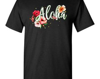 Aloha Hibiscus Hawaii Island Cool T-shirt For Summertime