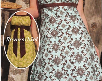 Women's Reversable Apron Pattern Emmeline Sew Liberated DIY Sewing