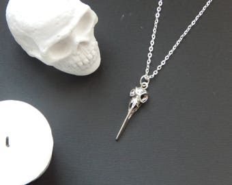 Bird Skull Pendant Necklace