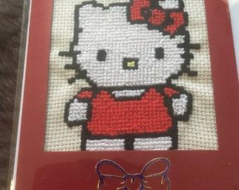 Handmade hello kitty card
