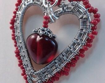 Victorian Style Heart Pendant