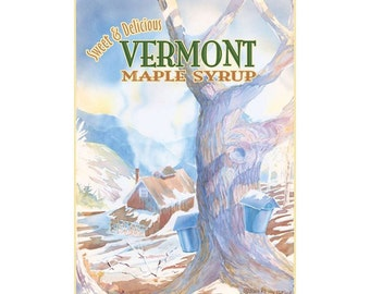 Vermont Maple Syrup Travel Poster