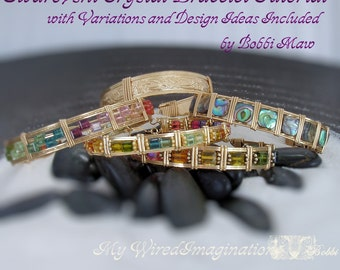 Wire Jewery Tutorial Wire Wrapped Swarovski  Bracelet Tutorial with Variations - Instant Download PDF File