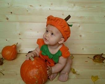 Baby pumpkin hat for Halloween costume