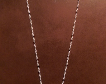 18.5 in Solid Sterling 2mm rolo chain necklace for charm
