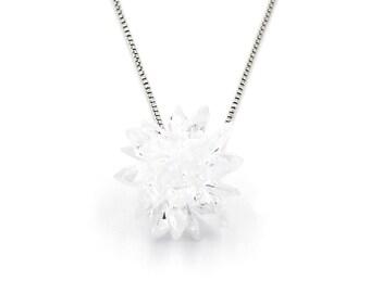 Fashion snowflake silver necklace