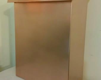 Large vertical  Copper Mailbox