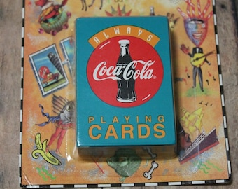 Coca Cola Playing cards-Mini Playing cards-Coke playing cards-Mini deck of cards-Coca Cola Collectibles-Unopened playing cards